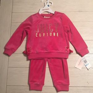 Juicy Couture fuchsia velour girls tracksuit